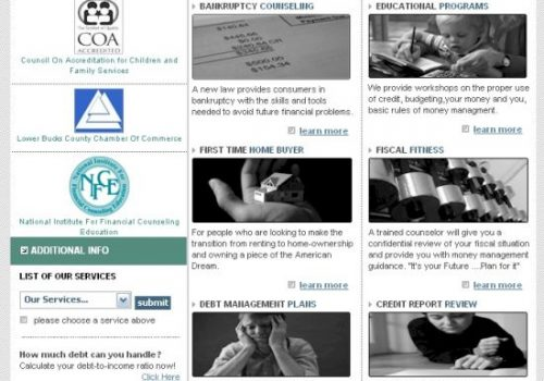 Credit Counseling Center Home Page