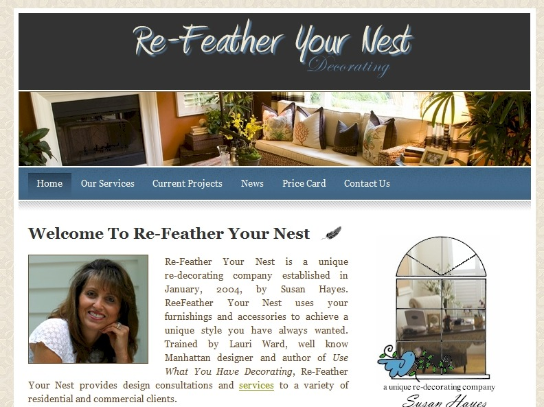 Refeather Your Nest Home Page