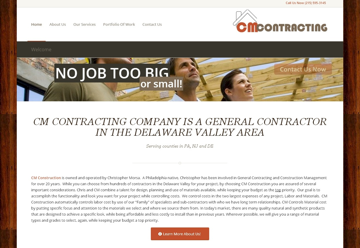 CM Contracting Company | Gill Web Creations | Design